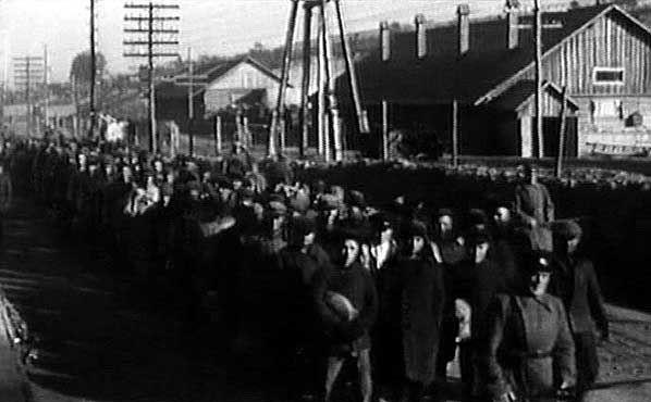 Заключенные на строительстве канала Москва-Волга. <br>