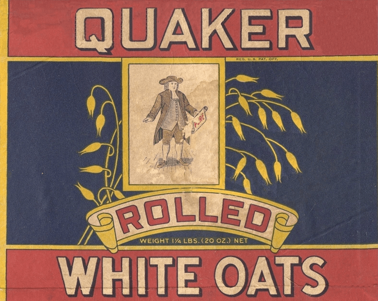 Типичный образ квакера в рекламе.