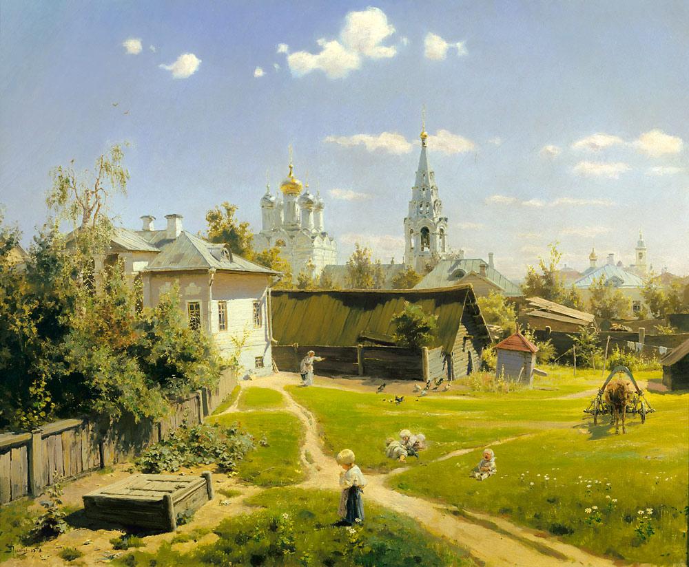 «Московский дворик», Василий Поленов (1878)