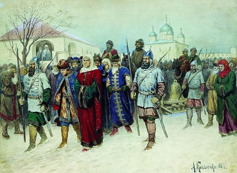 Отправка Марфы Посадницы в Москву.
