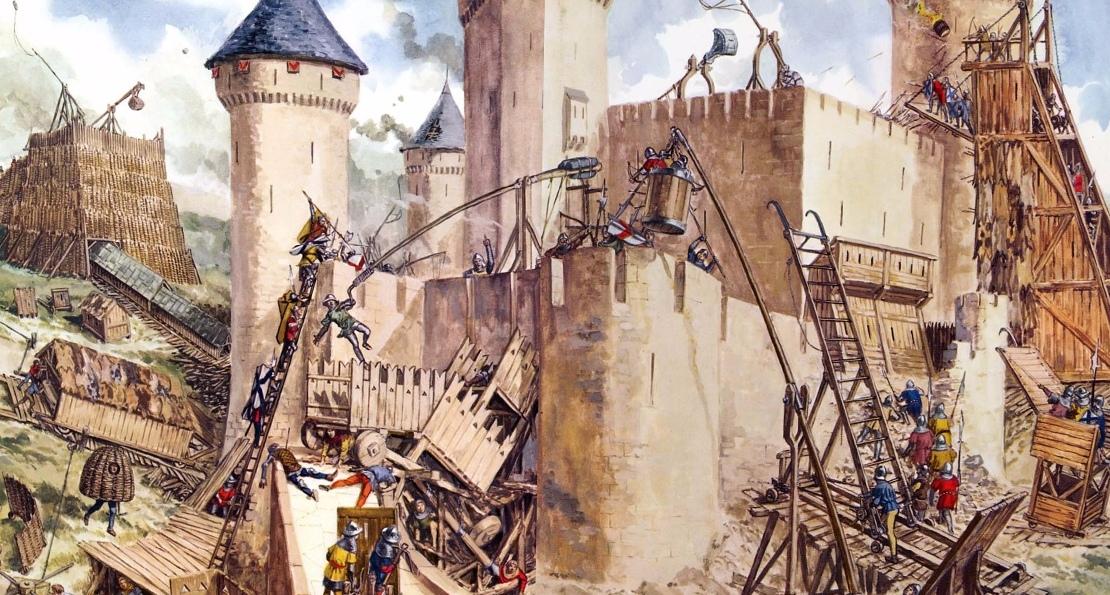 Средневековая осада. <br>
