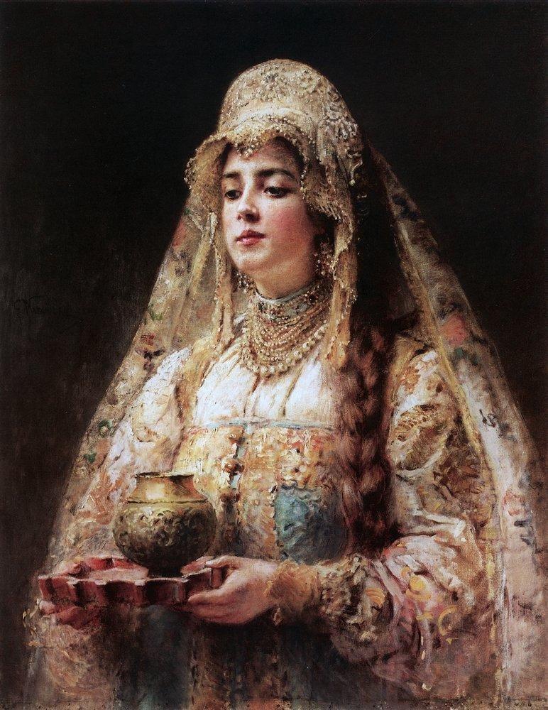 Анна Васильчикова, жена Ивана Грозного, К. Маковский.