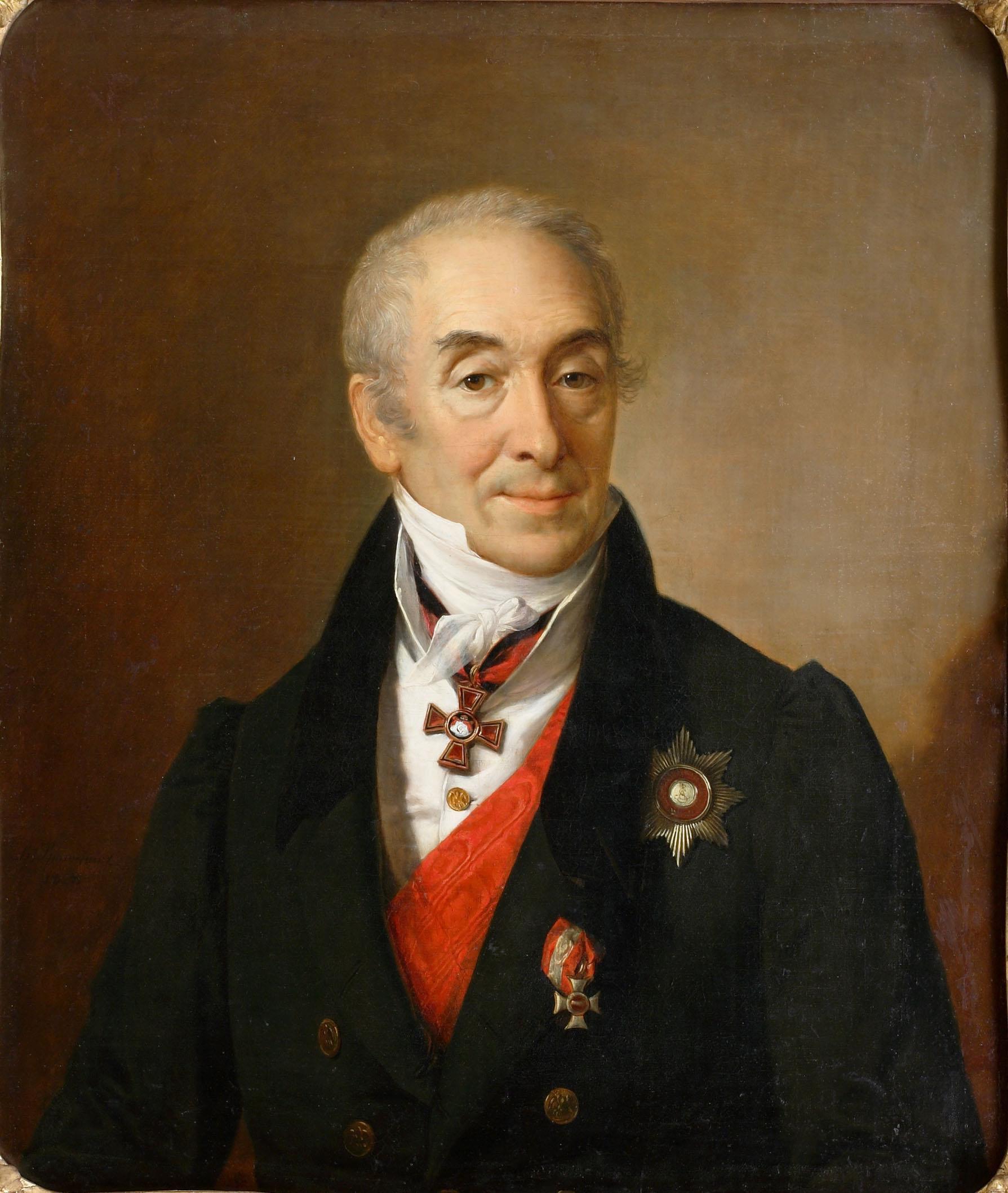 В. А. Тропинин «Портрет Сергея Сергеевича Кушникова», 1828.