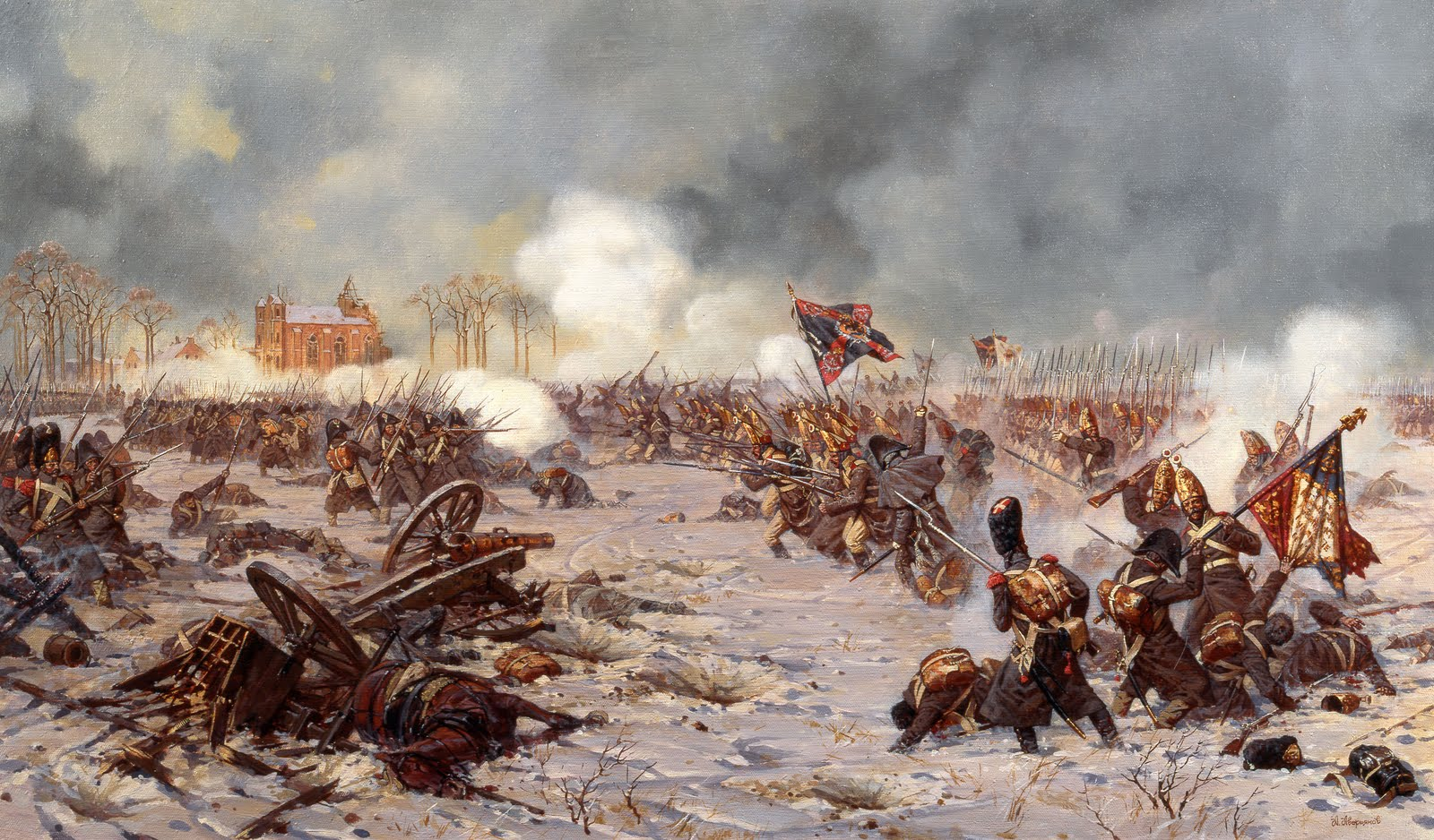 Атака русской пехоты.