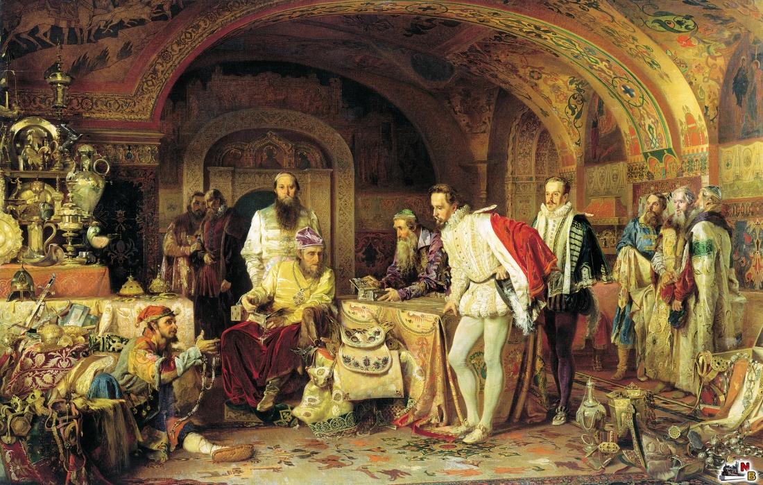 Иван Грозный показывает сокровища английскому послу Горсею