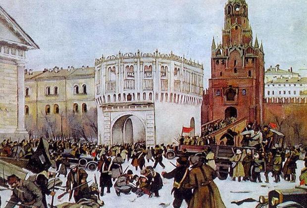 Худ. К. Юон. Вступление в Кремль.