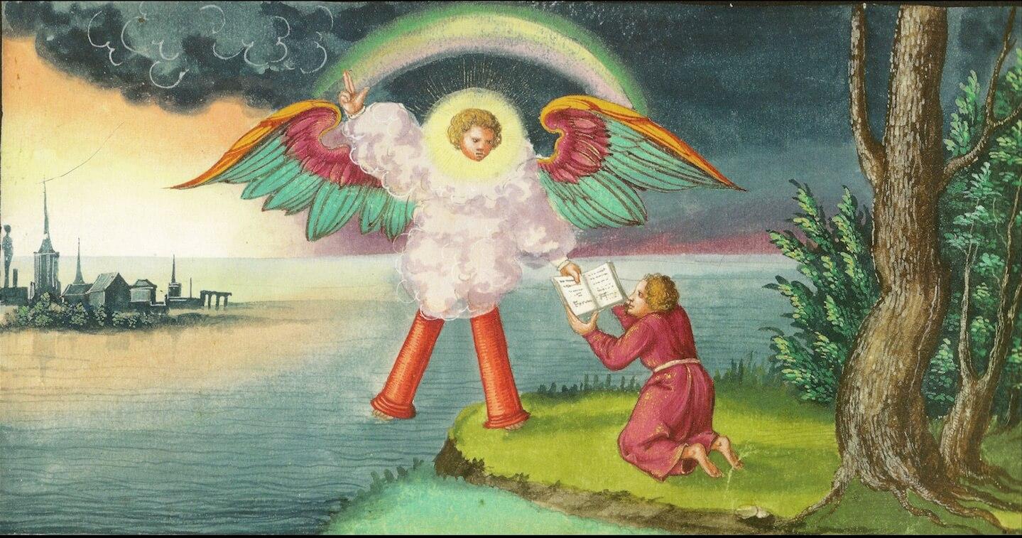 Миниатюра из Аусбургской книги чудес, ок. 1552.