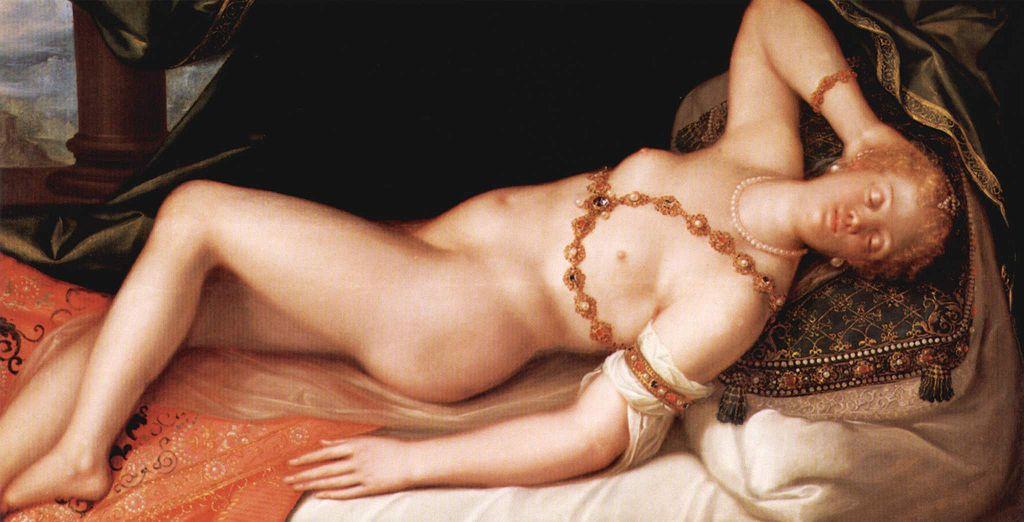 «Куртизанка». Возможно, на картине изображена Туллия д'Арагона. <br>