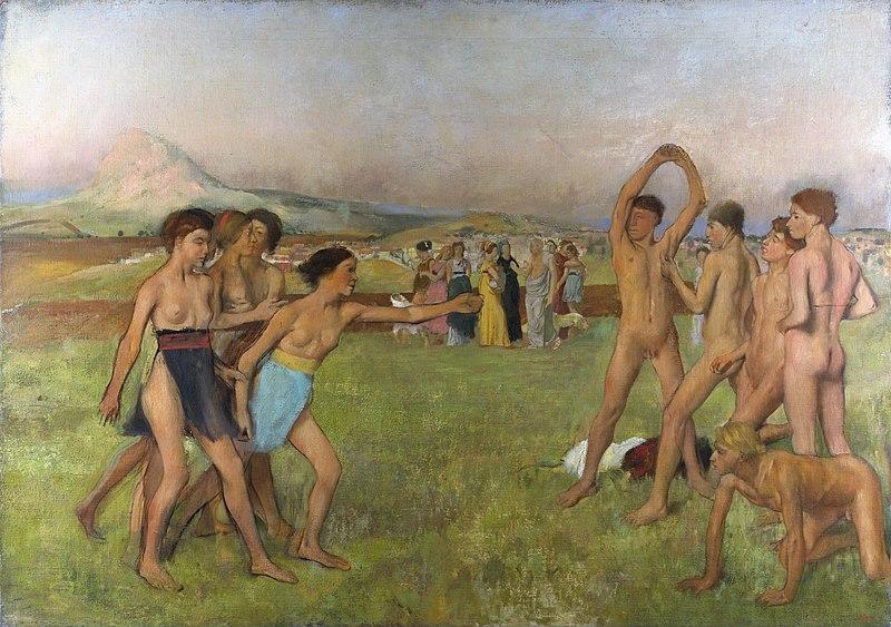 Эдгар Дега, «Спартанские девушки вызывают на состязание юношей». <br>