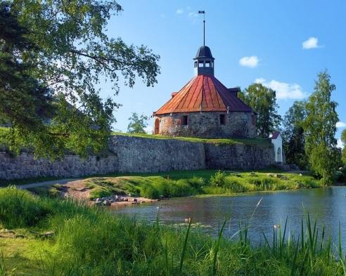 «Пугачевская башня» в Кексгольме. Вней содержались узницы. <br>