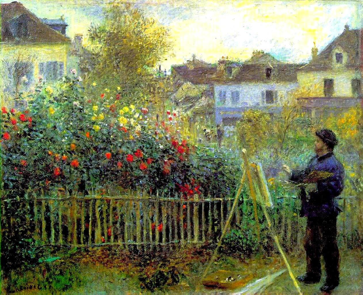 ФОТО 3 Моне пишет свои сад в Аржентеи 1873г .jpg