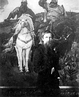 фото 3 Васнецов у картины «Богатыри». Москва. 1898.jpg
