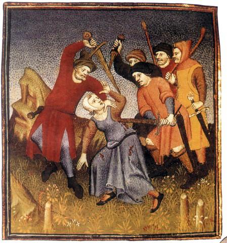 Наказание провинившейся женщины.  Источник: omiliya.org