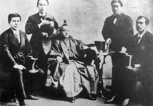 Члены миссии Ивакуры.