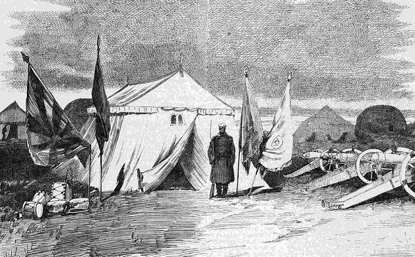 Трофеи, взятые русскими войсками в битве при Кушке.