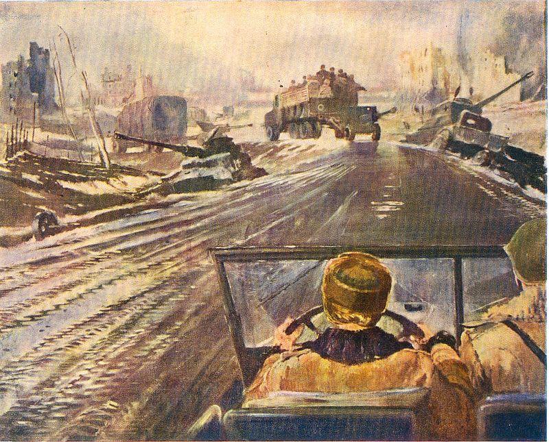 Ю. Пименов. Фронтовая дорога. 1944 г..jpg