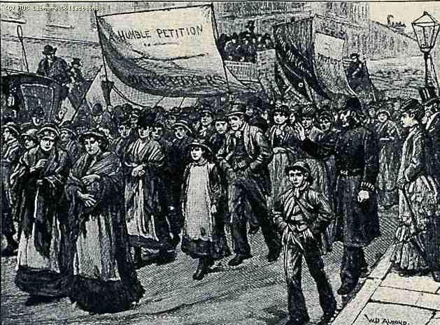Демонстрация работников спичечной фабрики, 1888 год.JPG