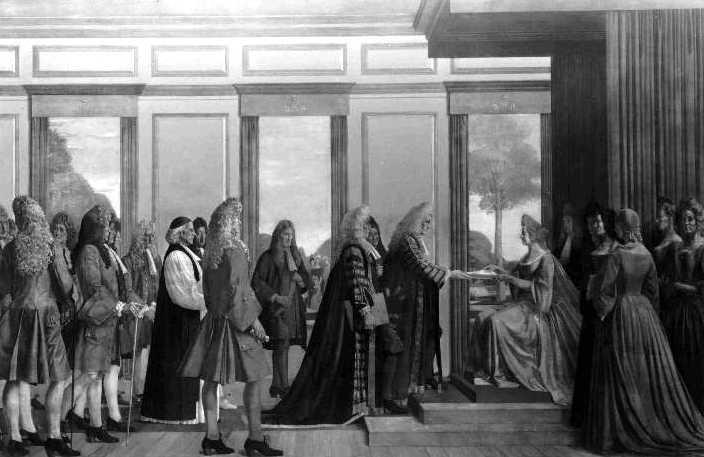 Картина Вальтера Томаса Моннингтона «Объединение парламентов Англии и Шотландии в 1707 году».jpg