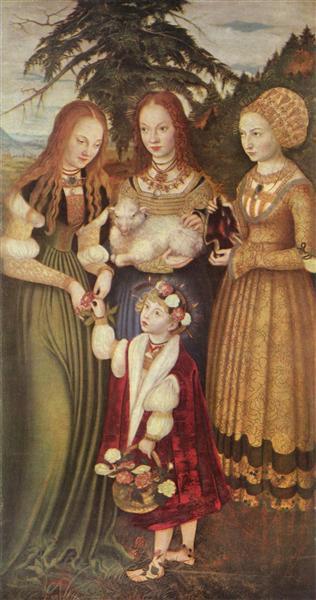 14 Святые Доротея Агнесса И Кунигунда 1506.jpg