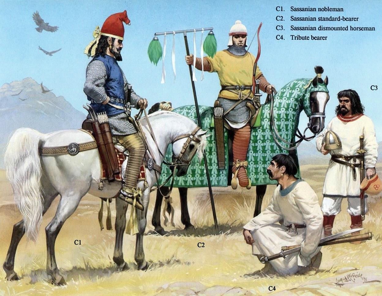 Сасанидские воины.