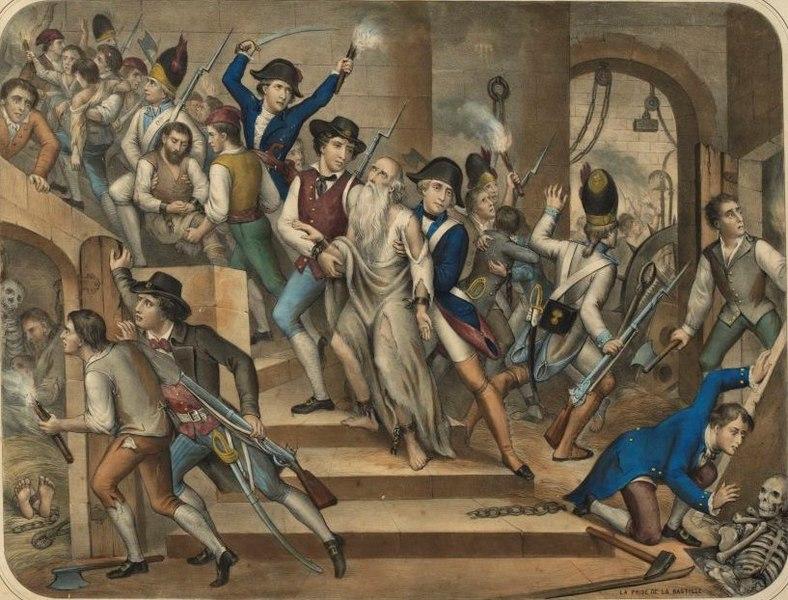 Восставшие в Бастилии.