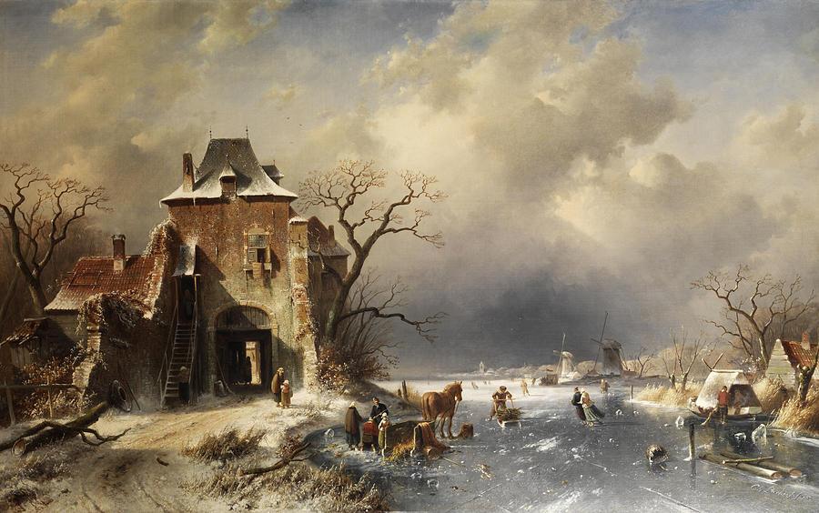 Чарльз Лейкерт «Голландский зимний пейзаж».