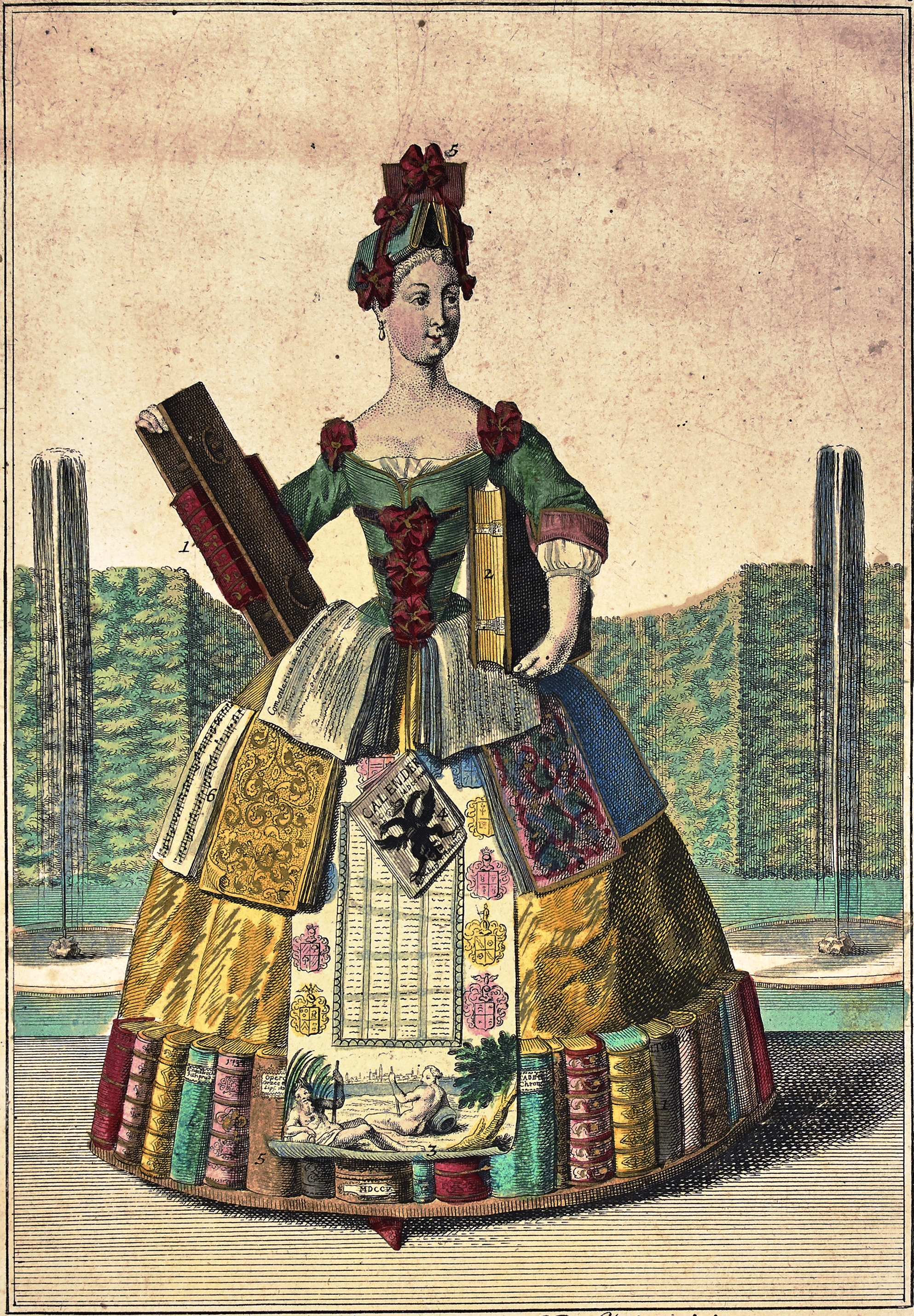 Мартин Энгельбрехт «Персонификация книготорговли», около 1730.