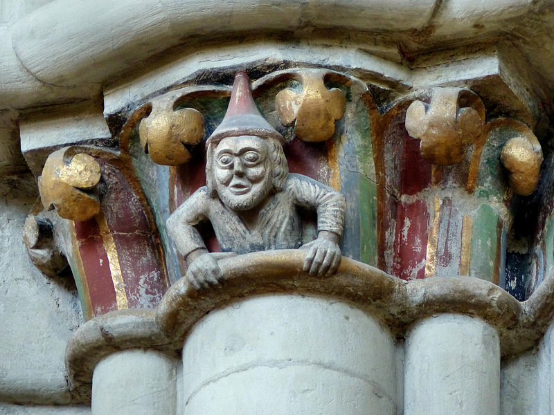 Изображение еврея на барельефе Мюнстерского кафедрального собора.