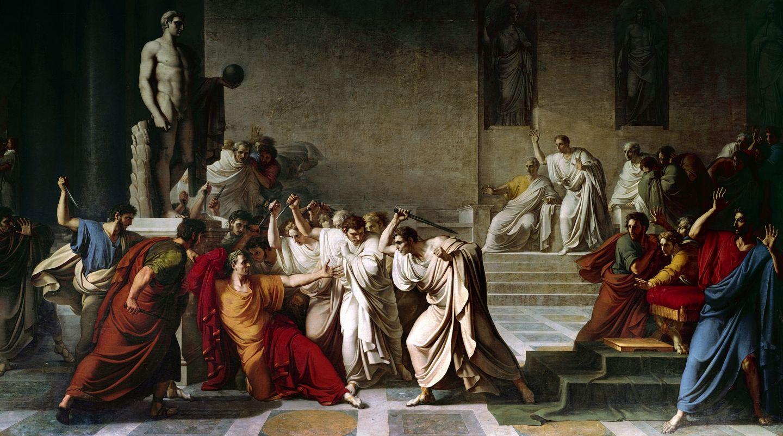 «Смерть Цезаря», худ. В. Камуччини, 1865. <br>