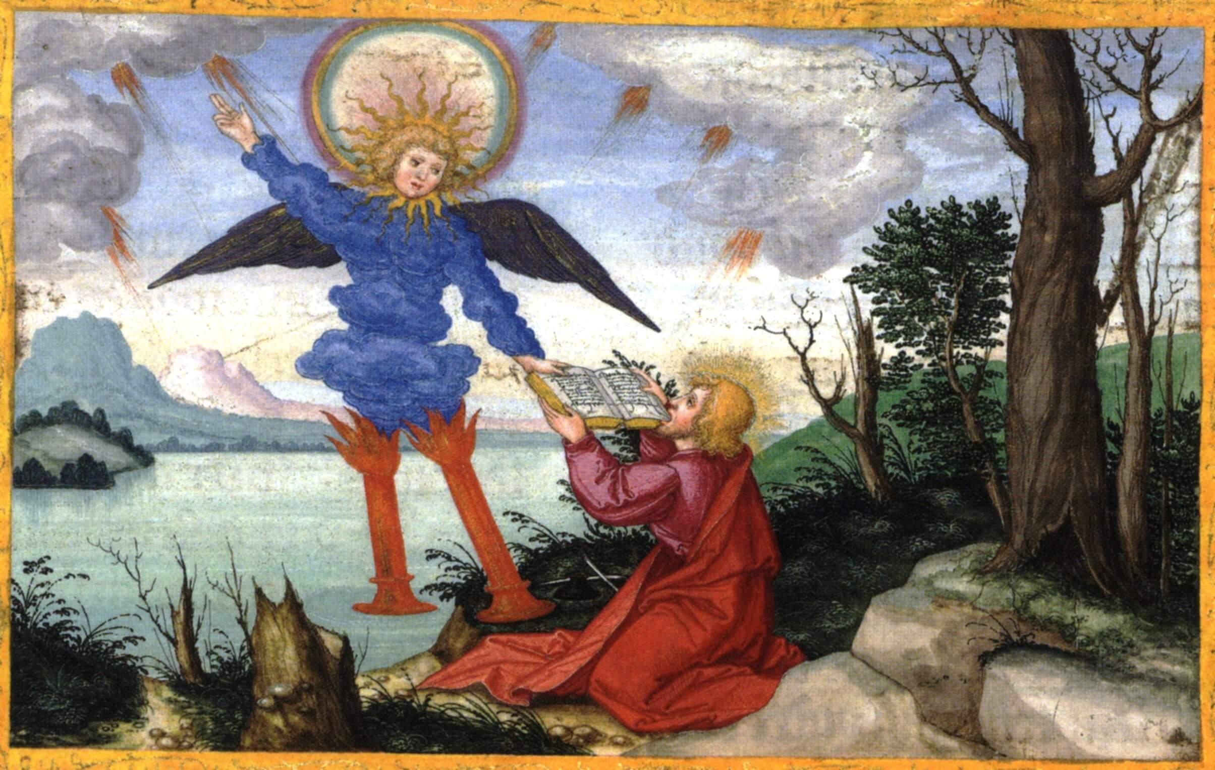 Маттиас Герунг. Миниатюра из Библии Оттейнриха, ок. 1530−1532.