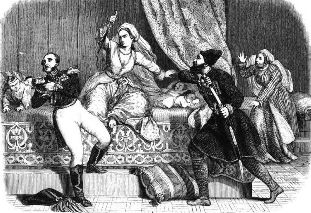 «Убийство генерала Лазарева» Ч.-М. Джоффри, 1845.  Источник: en.wikipedia.org