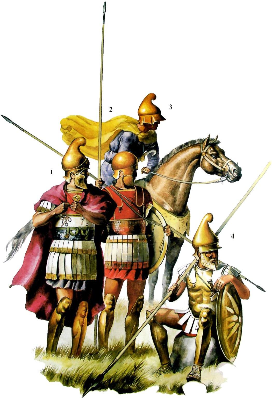 Воины Александра Македонского.