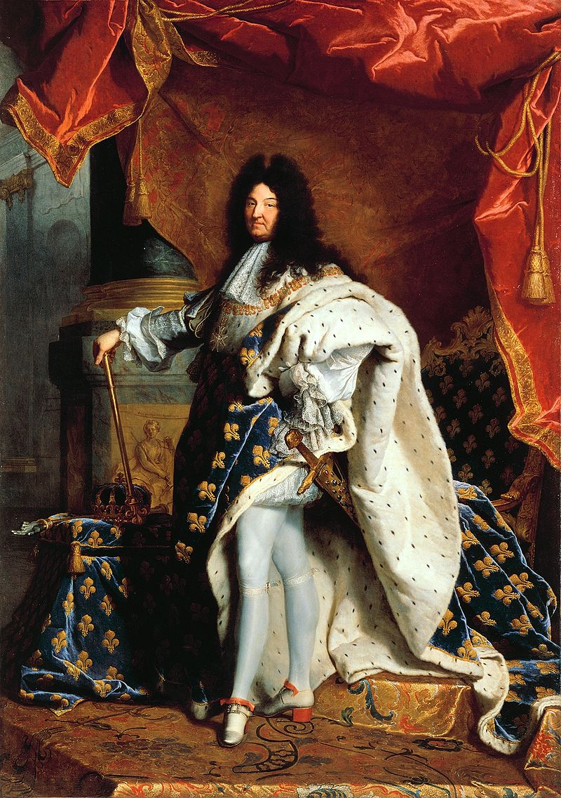 Людовик XIV. Портрет кисти Гиацинта Риго, 1701 год.jpg