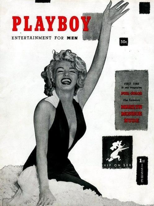 Обложки первых выпусков журнала Плейбой