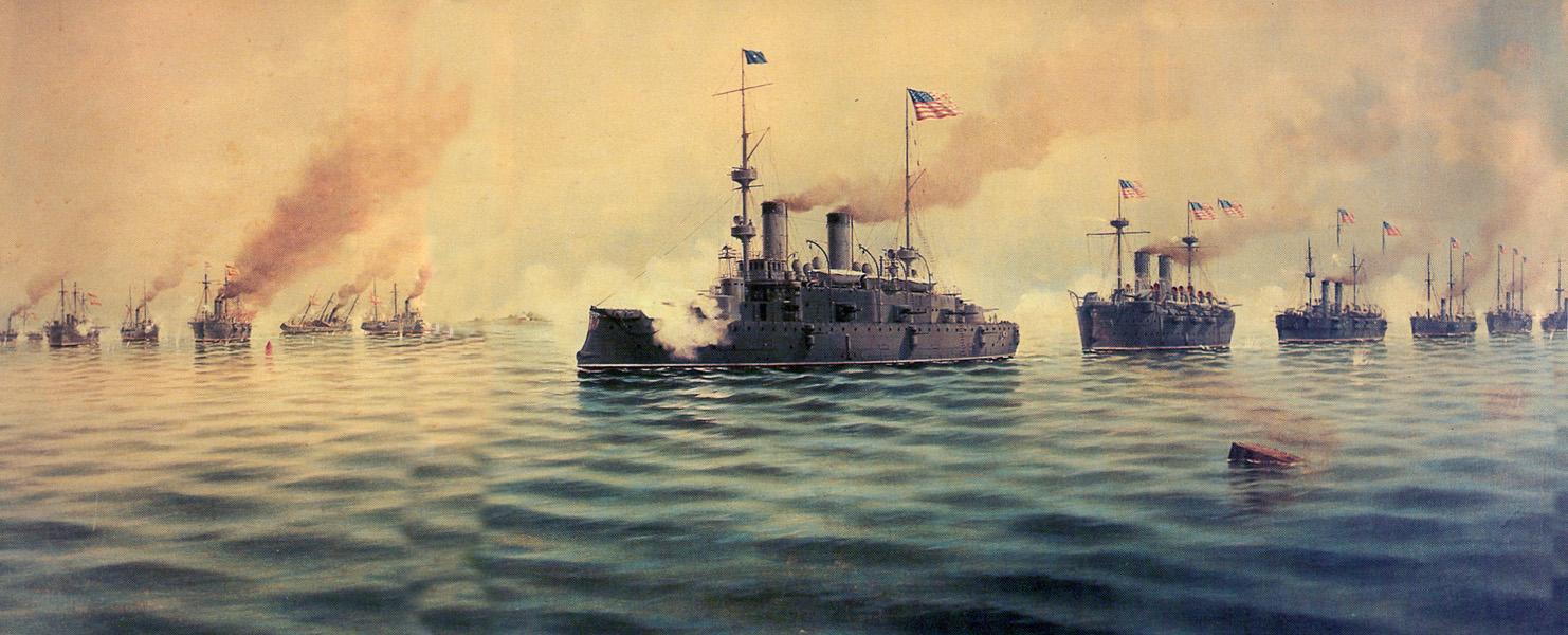 Битва при Кавите, испано-американская война. <br>