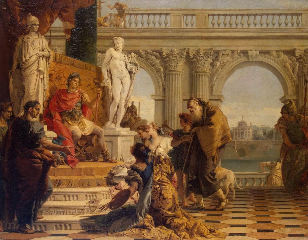 Меценат представляет императору Августу свободные искусства.