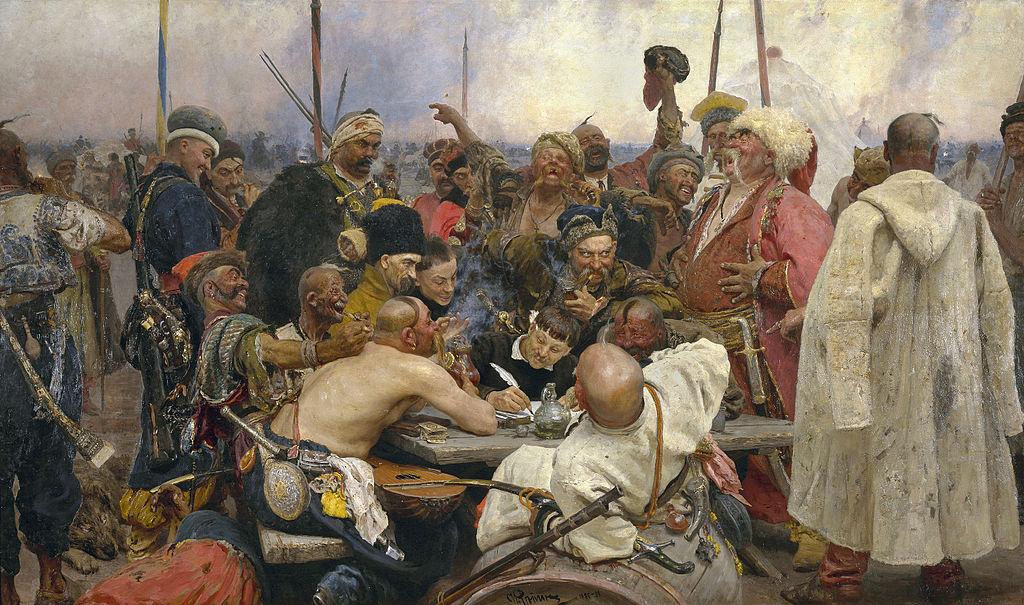 «Запорожцы пишут письмо турецкому султану», 1891.