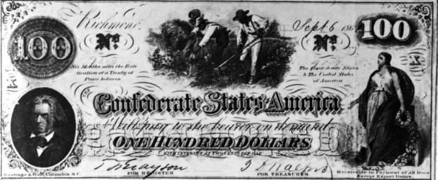 Банкнота в 100 долларов, конец 19 века.