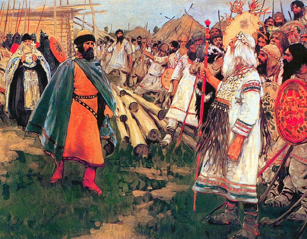 Сергей Иванов. Ян Вышатич и&nbsp;язычники. 1912 год. <br>