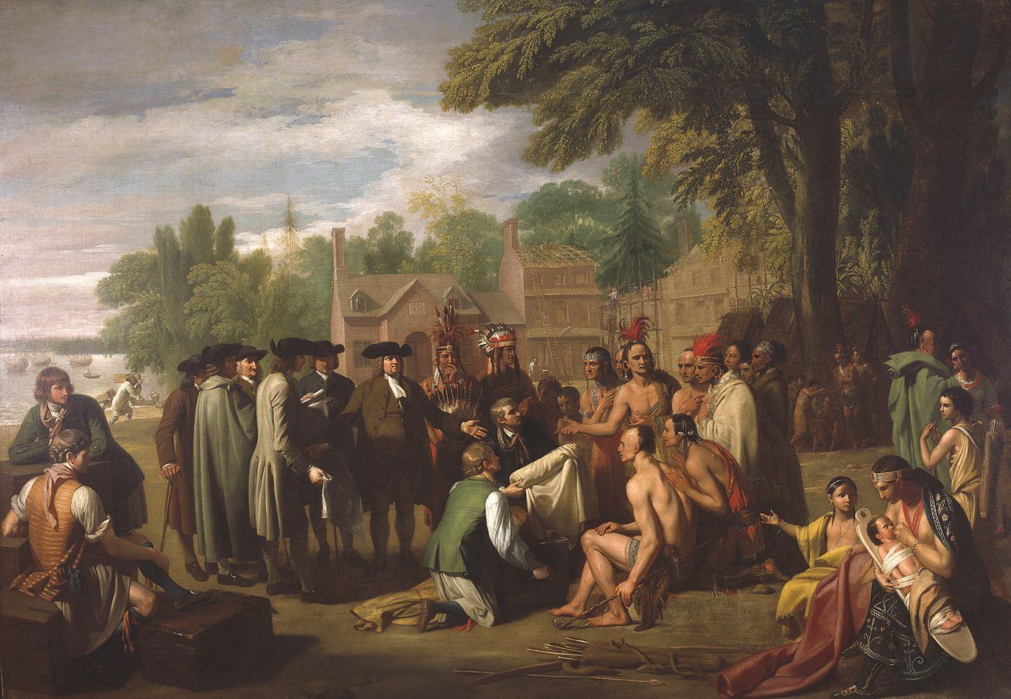 Договор Пенна с индейцами. Худ.Б. Уэст, 1878.