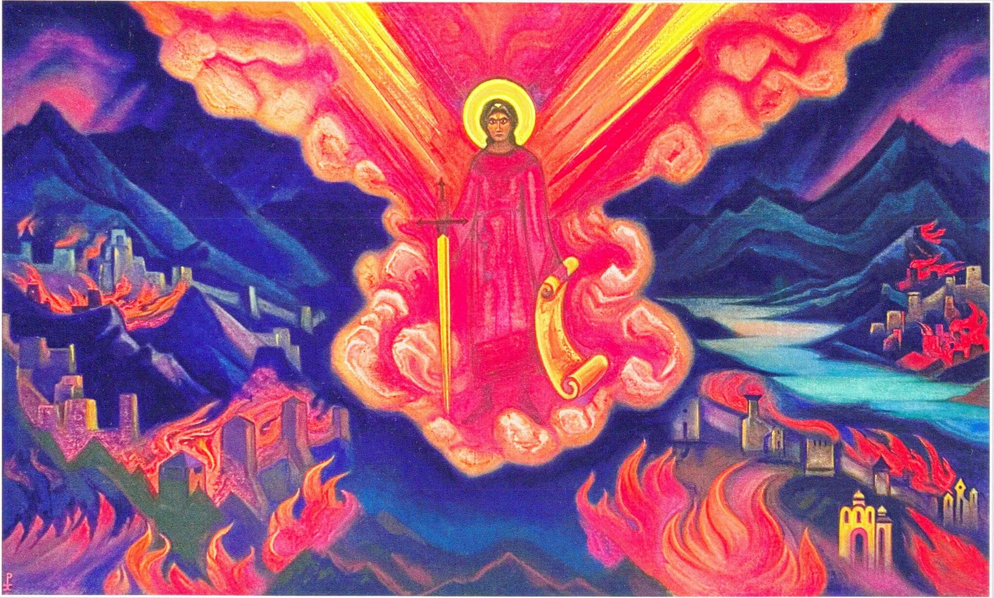 Николай Рерих. Последний ангел, 1942.
