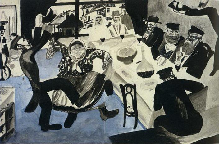 ФОТО 4 _Еврейская свадьба_, Марк Шагал (1910).jpg