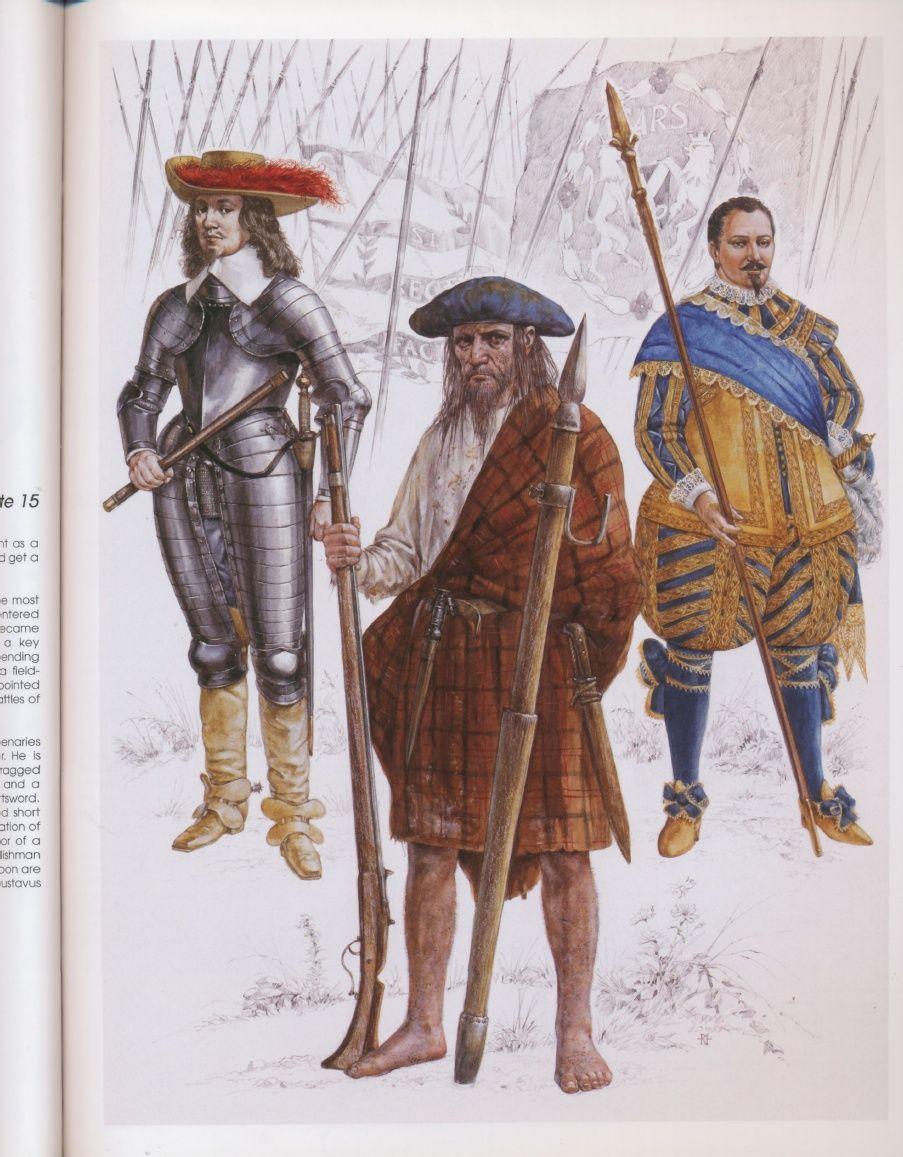 Британские наёмники в армии ГуставаII Адольфа, 1630г.