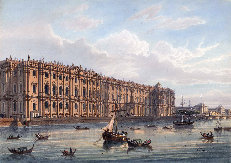 Зимний дворец в середине XIX века.
