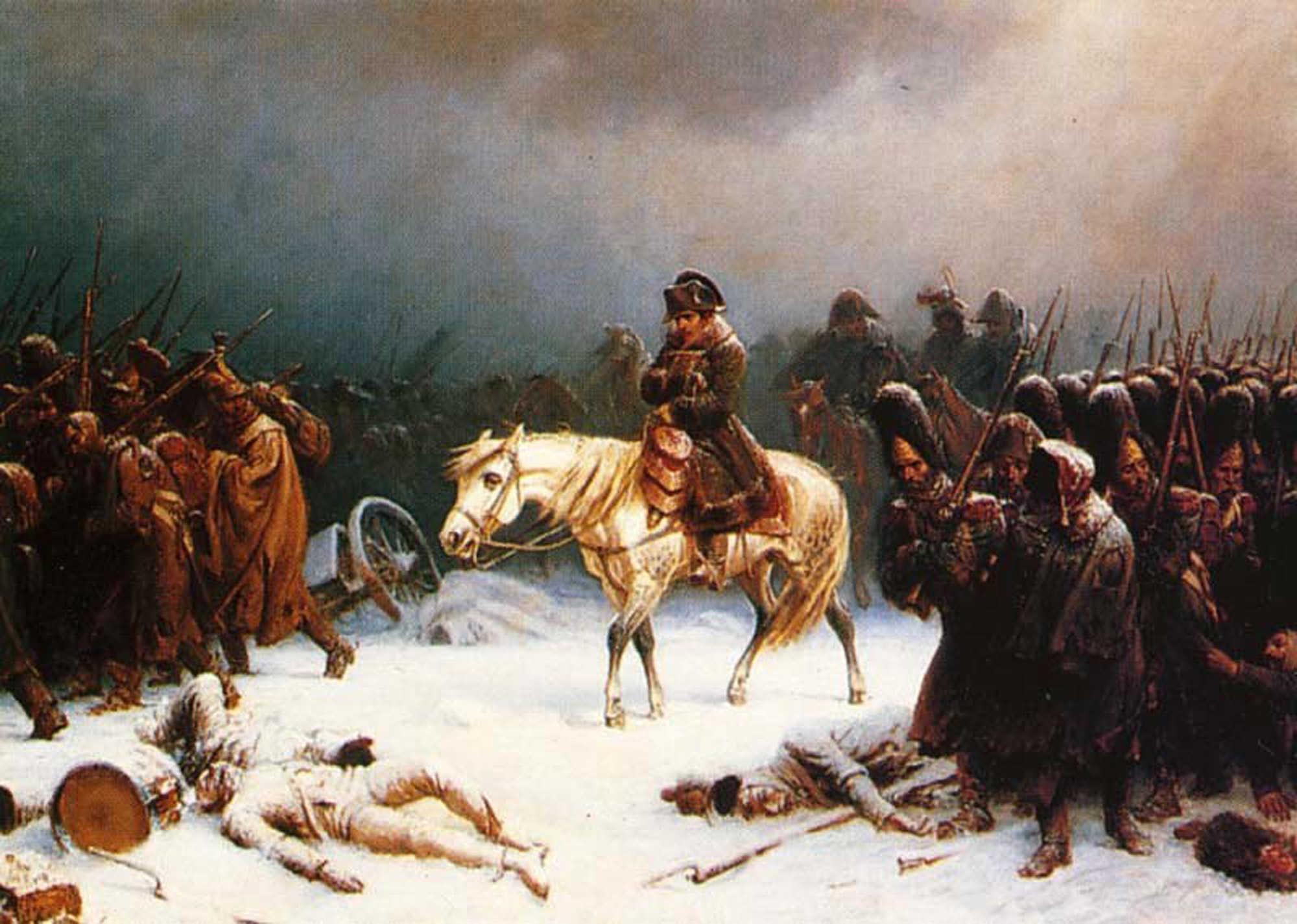 Адольф Нортен «Отступление Наполеона из России».