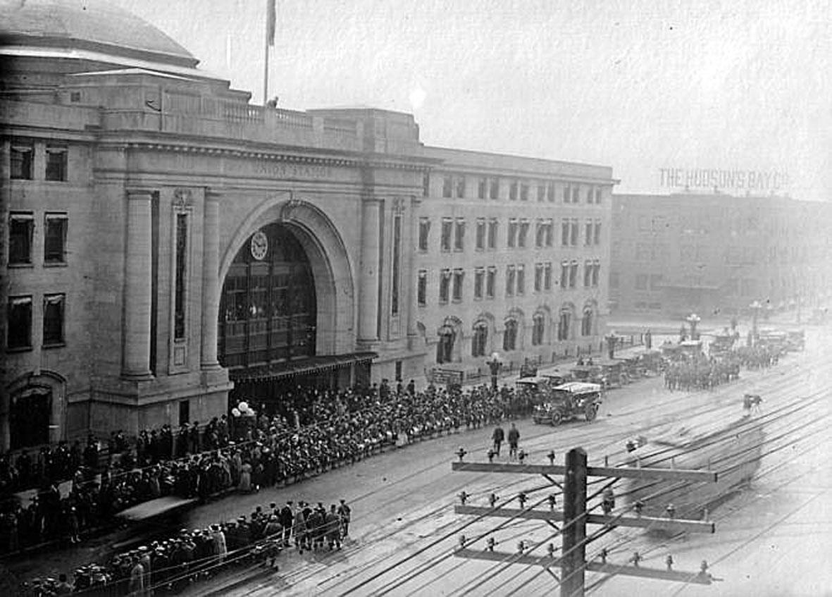 Вернувшиеся с Первой Мировой. Виннипег, 1918.