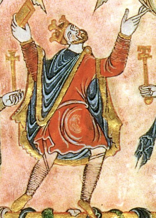 Король Эдгар Миролюбивый [959−975]. Источник: Wikimedia Commons