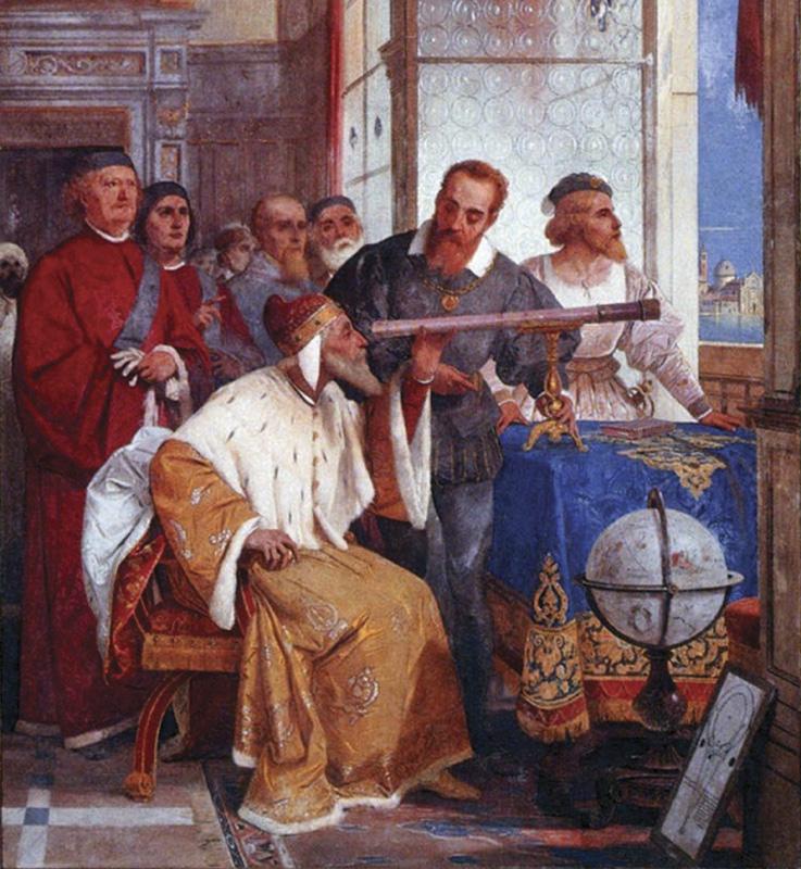Галилей показывает телескоп венецианскому дожу.