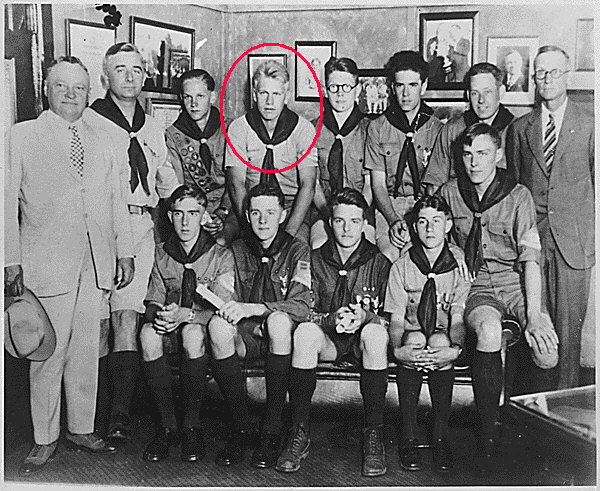 Eagle Scout Gerald Ford (circled in red) in 1929.jpg