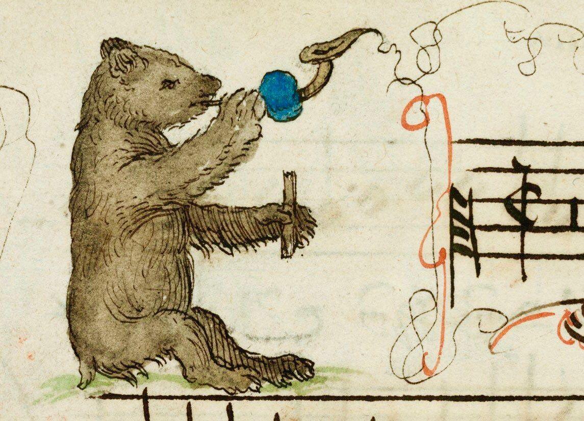 Изображение медведя в музыкальной литературе Средневековья.